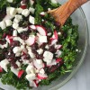 Kale Salad with Feta and Cranberries