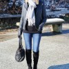 The Coziest Gray Fringe Scarf